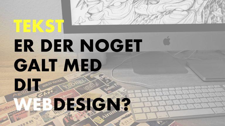 Indlægsbillede med tekst på - er der noget galt med dit webdesign?