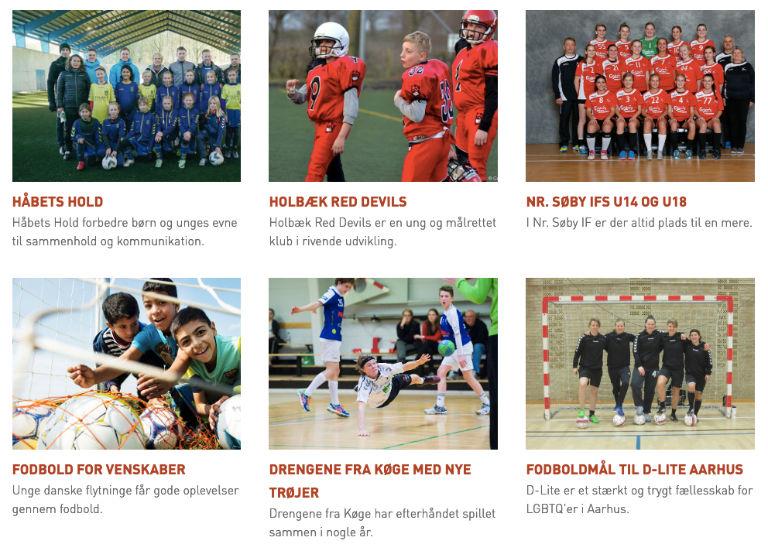 Skærmbillede af Carlsberg Sportsfond