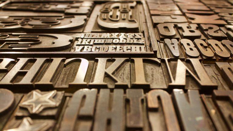 Typografiske Bogstaver - EW Web